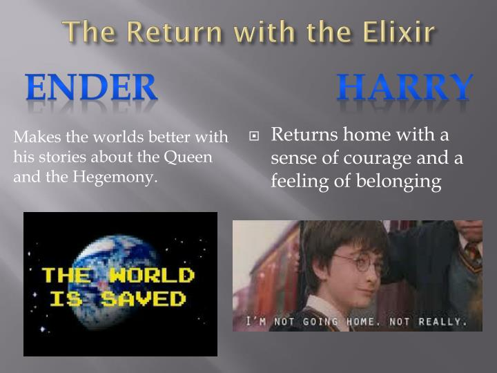 The Return with the Elixir