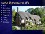 about shakespeare s life