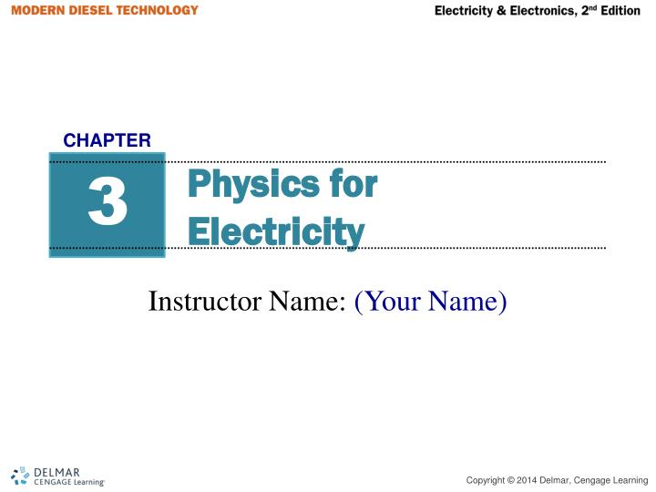 physics for electricity n.