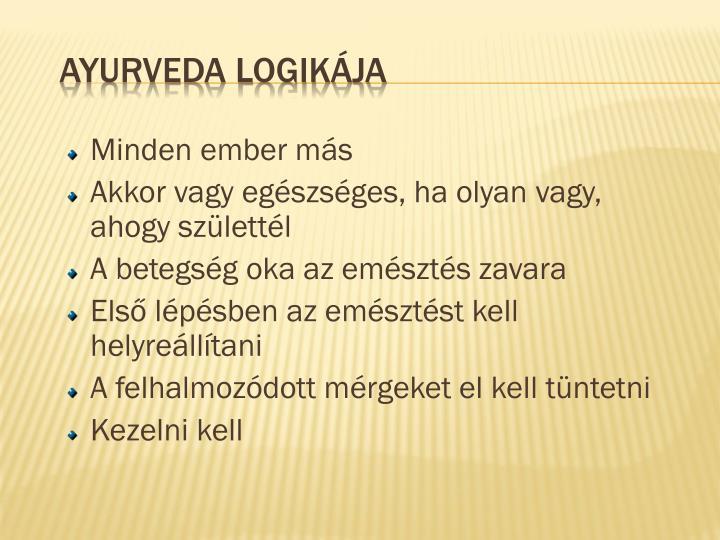 Ayurveda logikája