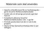 materiale som skal anvendes