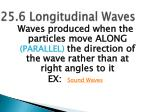 25 6 longitudinal waves