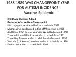 1988 1989 was changepoint year for autism incidence vaccine epidemic
