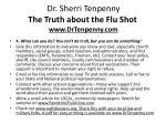 dr sherri tenpenny the truth about the flu shot www drtenpenny com