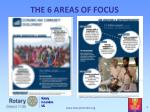 the 6 areas of focus