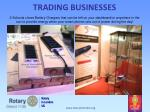 trading businesses