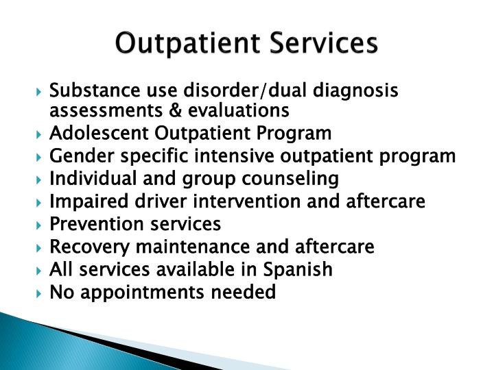 Outpatient Services