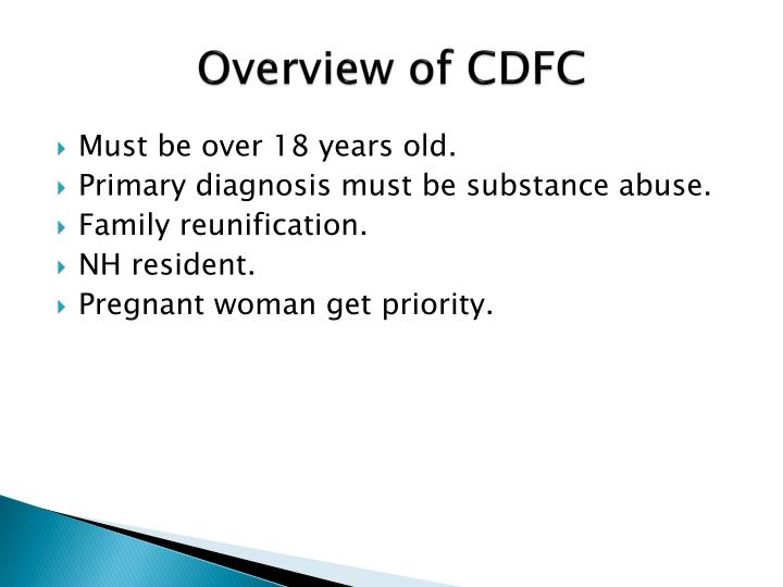 Overview of CDFC