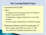 the learning habits project