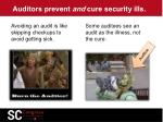 auditors prevent and cure security ills