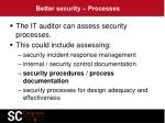 better security processes