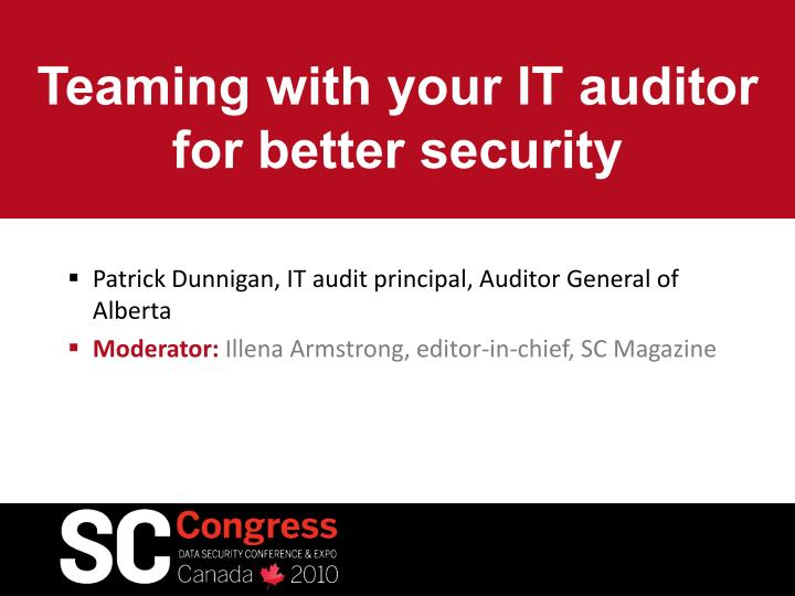 teaming with your it auditor for better security n.