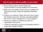 top 10 ways to add an auditor to your team1
