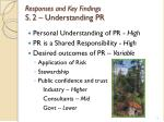 responses and key findings s 2 understanding pr