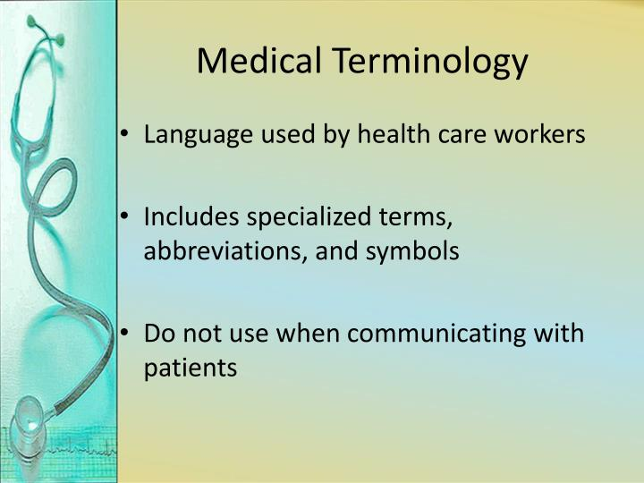 Ppt Medical Terminology Powerpoint Presentation Id2121426