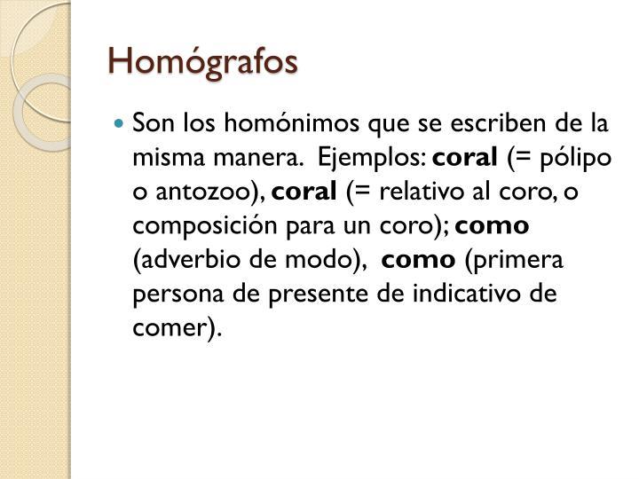Homógrafos