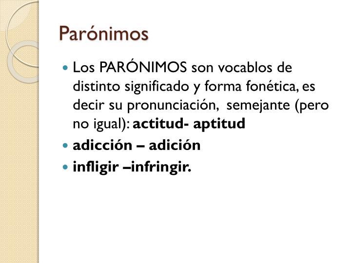 Parónimos