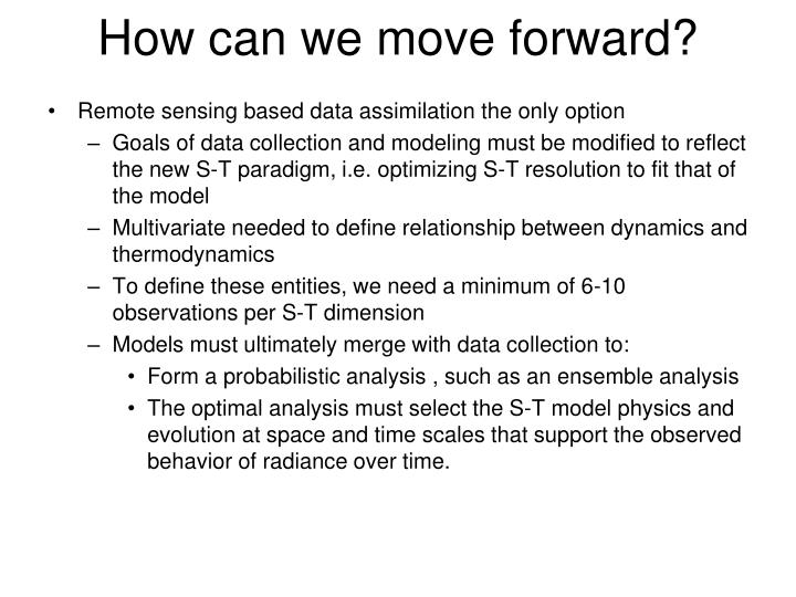 How can we move forward?