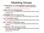 modeling groups