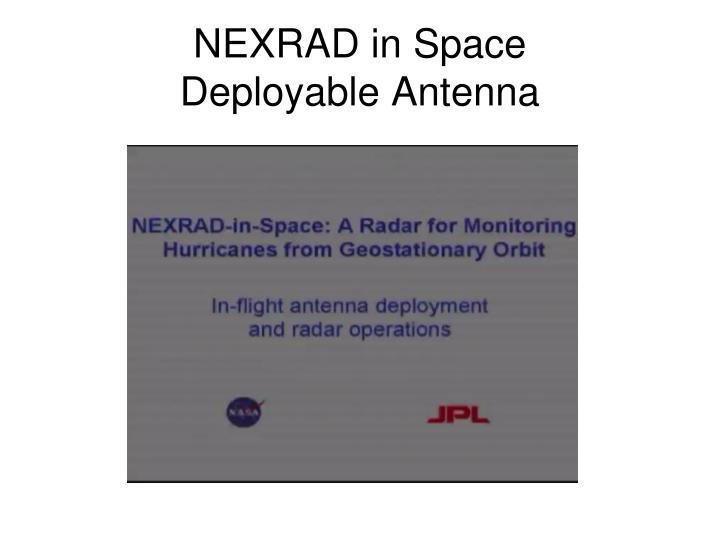 NEXRAD in Space