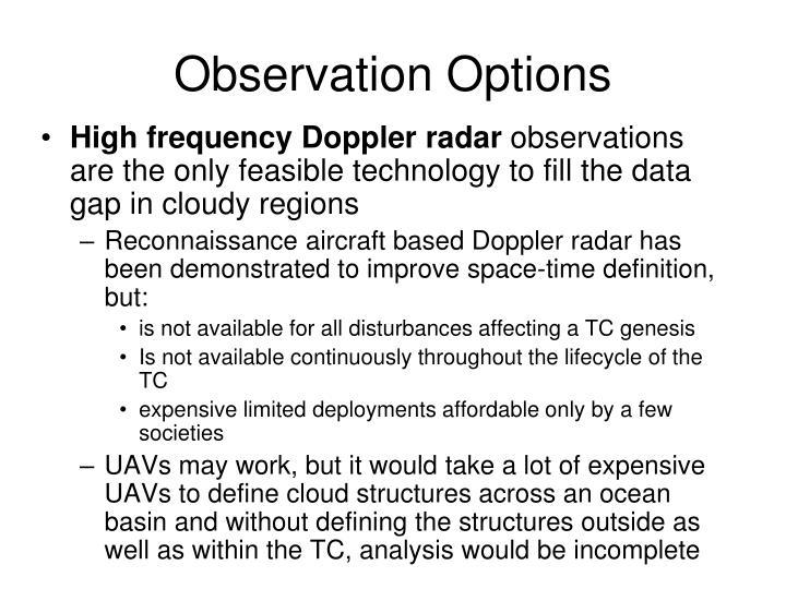 Observation Options