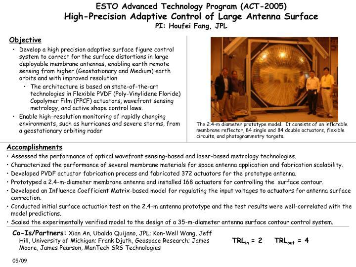 ESTO Advanced Technology Program (ACT-2005)