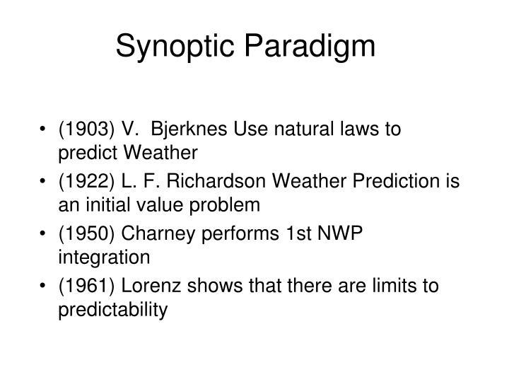 Synoptic paradigm