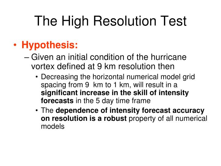 The High Resolution Test