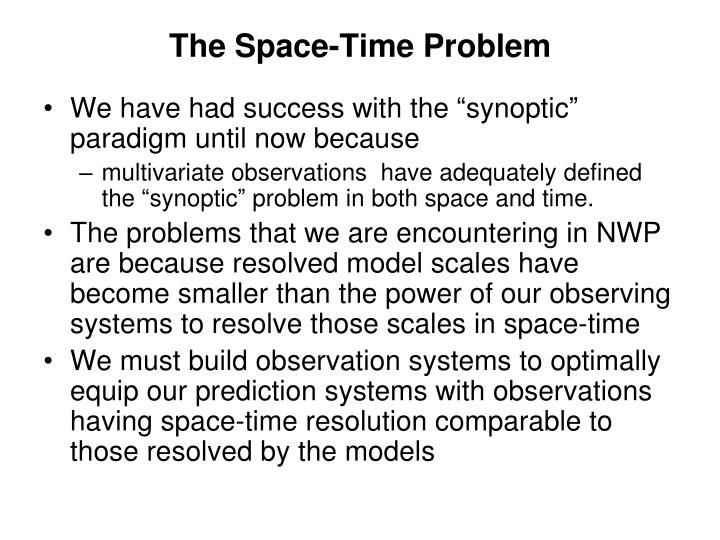 The Space-Time Problem