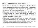 de la commission au conseil ii
