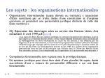 les sujets les organisations internationales