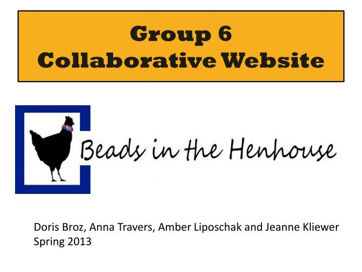 group 6 collaborative website n.