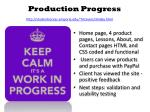 production progress