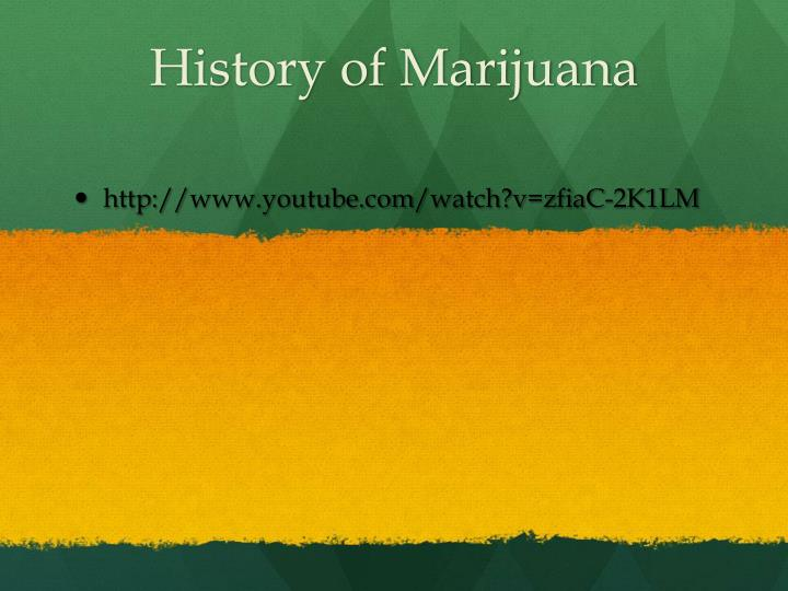 an introduction to the history of legalization of marijuana Many recognize marijuana prohibition as a large burden to our economy, and proponents of legalization state that this burden would be removed if marijuana was legalized and regulated by the government.