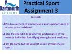 practical sport assignment 32
