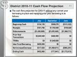 district 2010 11 cash flow projection