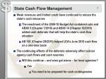 state cash flow management