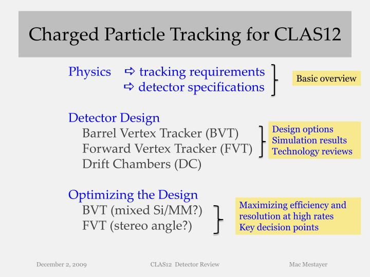 charged particle tracking for clas12 n.