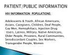 patient public information