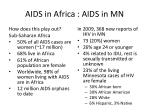 aids in africa aids in mn