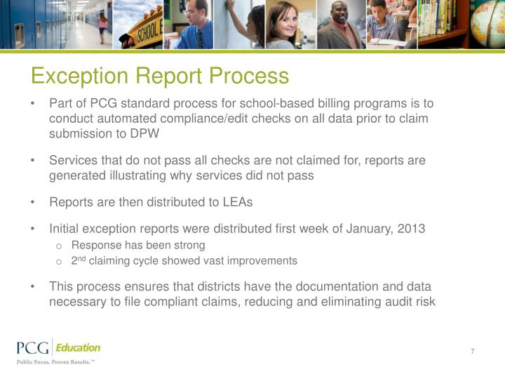 Exception Report Process
