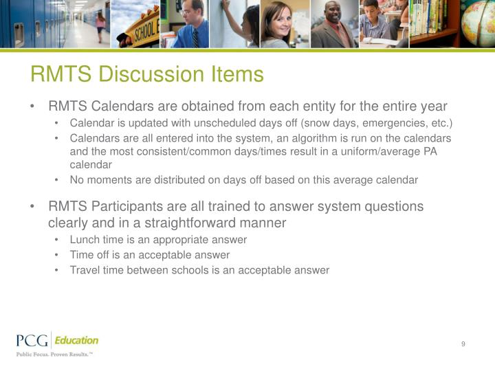 RMTS Discussion Items