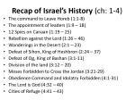 recap of israel s history ch 1 4