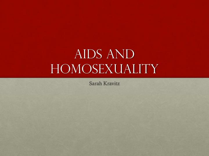 aids and homosexuality n.
