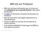 ibss est sur proquest