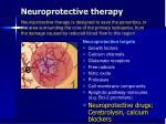 neuroprotective therapy
