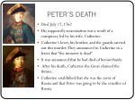 peter s death