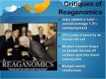 critiques of reaganomics