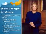 social changes for women