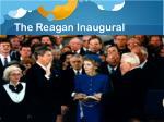the reagan inaugural